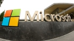 Microsoft Corp. logo outside the Microsoft Visitor Center in Redmond, Wash. (AP / Ted S. Warren)
