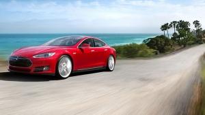 The Tesla Model S. (Photo from Tesla Motors Events)