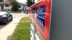 A community mailbox from Canada Post is shown in Edmonton on Sept. 29, 2015.
