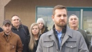 "Wildrose MLA Derek Fildebrandt was suspended for a Facebook post in which he said he was ""proud"" of a constituent who had posted a homophobic comment about Ontario Premier Kathleen Wynne."