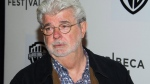 In this April 17, 2015 file photo, George Lucas attends the Tribeca Talks: Director Series during the Tribeca Film Festival at the BMCC Tribeca Performing Arts Center, in New York. (Charles Sykes/Invision/AP, File)