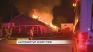 Auto shop destroyed by fire