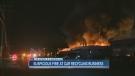 CTV Calgary: Fire tears through auto yard