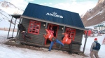 Argentinian brewer Andes has created the world's first bar built at a 45-degree incline to ensure perfectly poured pints. (Cerveza Andes/Twitter)