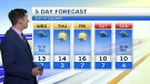 Forecast: Chance of rain on Wednesday