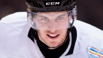 Team Canada captain Sidney Crosby (87) looks up ice during a drill at practice ahead of the World Cup of Hockey finals in Toronto on Monday, September 26, 2016. (THE CANADIAN PRESS/Nathan Denette)