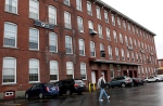 This photo shows Dyn, a New Hampshire internet service company, in the old mill section of the city, Friday Oct. 21, 2016 in Manchester, N.H. (AP / Jim Cole)