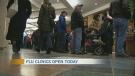 Flu clinics open in Alberta