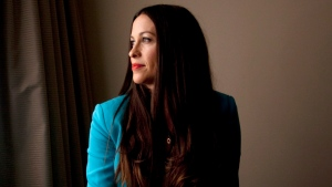 Canadian singer Alanis Morissette posed for a photo in Toronto on Thursday, August 2, 2012. Morissette will release her seventh album 'Havoc And Bright Lights' on August 28th. THE CANADIAN PRESS/Michelle Siu.